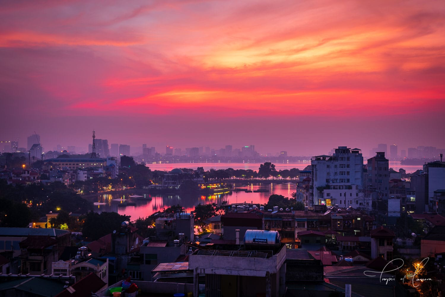 Sunset over Hanoi, Vietnam